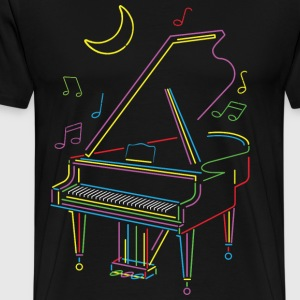 Bright Piano - Herre premium T-shirt