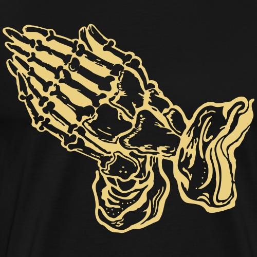 Betende Hände - pray (Motivfarbe änderbar) - Männer Premium T-Shirt