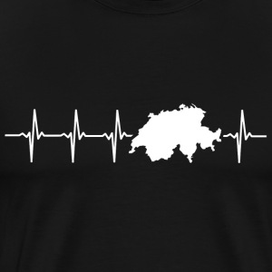 Switzerland, heartbeat design - Men's Premium T-Shirt