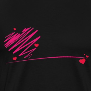 heart scribble - Men's Premium T-Shirt