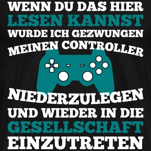 Gamer und die Gesellschaft - Männer Premium T-Shirt