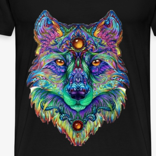 Wolfpack Geek wolf - Men's Premium T-Shirt