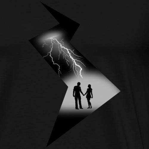 t shirt coup de foudre noir et blanc amour love - T-shirt Premium Homme