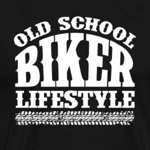 Old School Biker - Herre premium T-shirt
