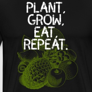 Vegetable garden vegan gardener eat food cultivation eco - Men's Premium T-Shirt