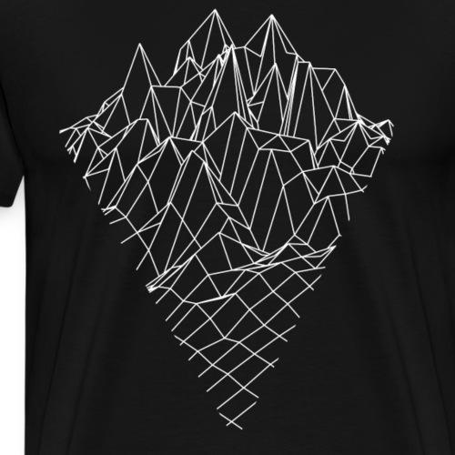 Berg Graphik Vector Sketch Style - Männer Premium T-Shirt