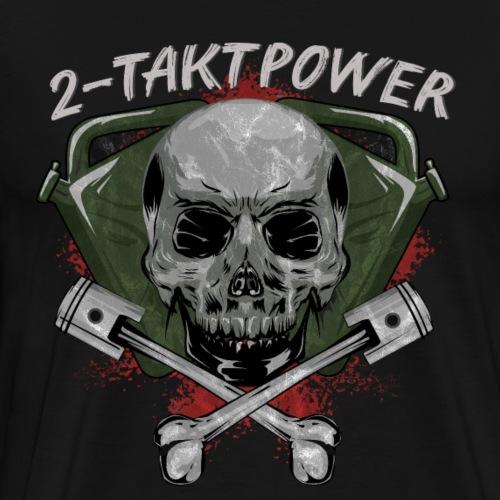 2 Takt Power Totenkopf Schädel Kolben - Männer Premium T-Shirt