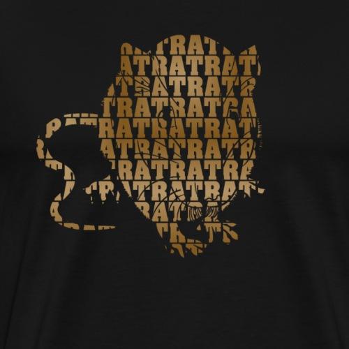 Ratte aus Buchstaben - Männer Premium T-Shirt