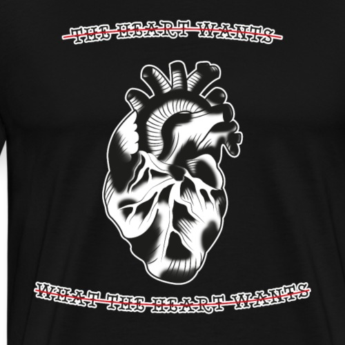 Tattoo Old School Herz Anatomisch Geschenk T-Shirt - Männer Premium T-Shirt