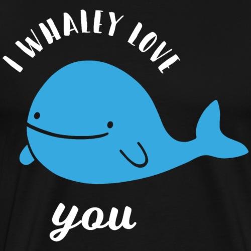 Walfisch Blauwal Liebe Lustiges Geschenk - Männer Premium T-Shirt