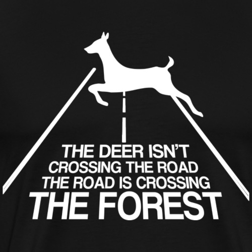Deer forest white - Men's Premium T-Shirt