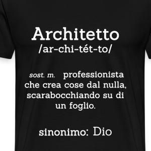 Maglietta per Architetto Nera