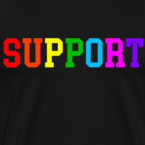LGBTQ+ Support - Unterstützer Gay Pride Rainbow - Männer Premium T-Shirt