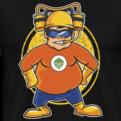 Craft Bier Superheld Lustig Fett Cool Saufen - Männer Premium T-Shirt