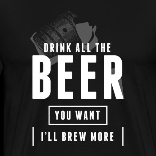 Braumeister Hobbybrauer Bierbrauer Bier brauen - Männer Premium T-Shirt