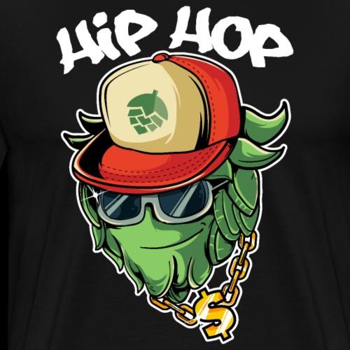 Hip Hop Gangster Hopfen Craft Bier Cool Brauer - Männer Premium T-Shirt