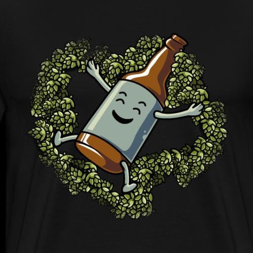 Craft Bier Hopfen Engel Lustig Hobbybrauer - Männer Premium T-Shirt