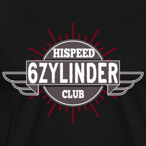 Six-cylinder HiSpeedClub - Men's Premium T-Shirt