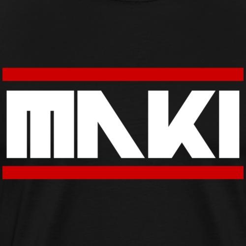 MAKI Weiße Schrift Logo - Männer Premium T-Shirt
