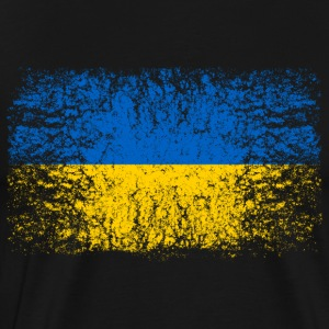 Ukraina 002 runde design - Premium T-skjorte for menn