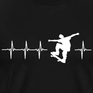 I love rollerblading (skating heartbeat) - Men's Premium T-Shirt