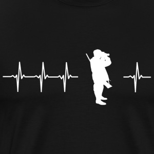 I love hunting (hunters heartbeat) - Men's Premium T-Shirt