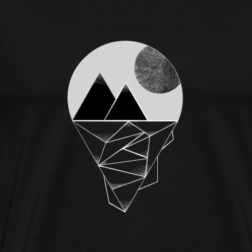 Mond in den Bergen - Männer Premium T-Shirt