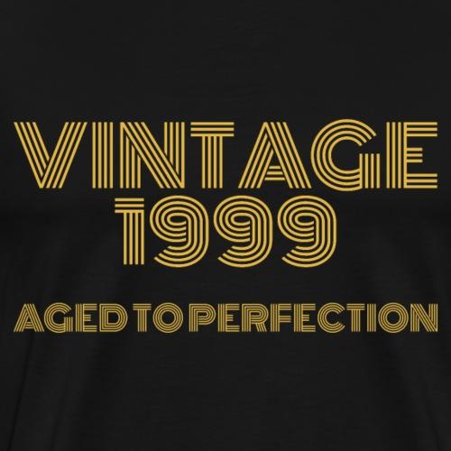 Vintage Pop Art 1999 Birthday. Aged to perfection. - Men's Premium T-Shirt