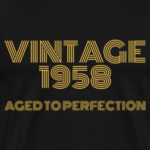 Vintage Pop Art 1958 Birthday. Aged to perfection. - Men's Premium T-Shirt