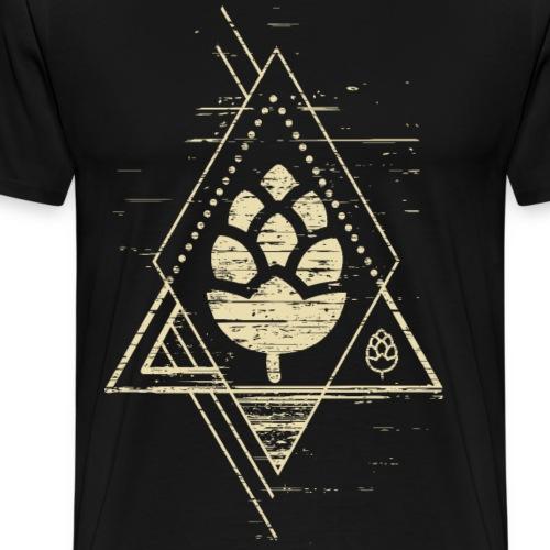 Geometrisches Hopfen Design - Männer Premium T-Shirt