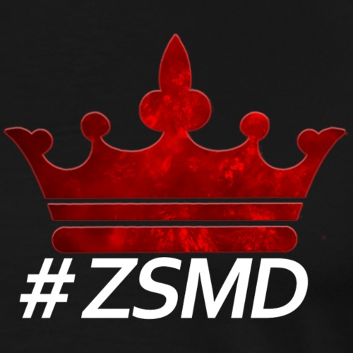 Krone mit weißer Aufschrift: #ZSMD - Männer Premium T-Shirt