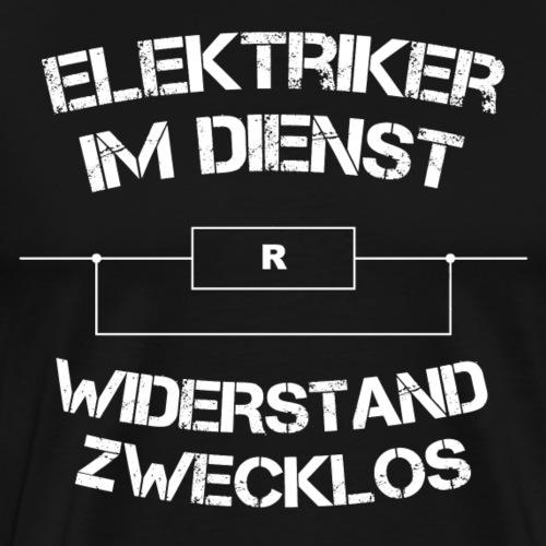 Elektriker im Dienst - Männer Premium T-Shirt