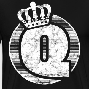 Stylish letter Q with crown - Men's Premium T-Shirt
