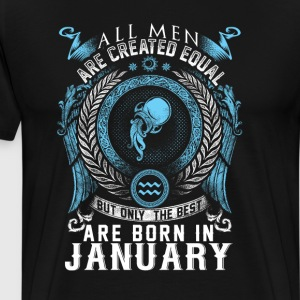 Aquarius January birthday - Men's Premium T-Shirt