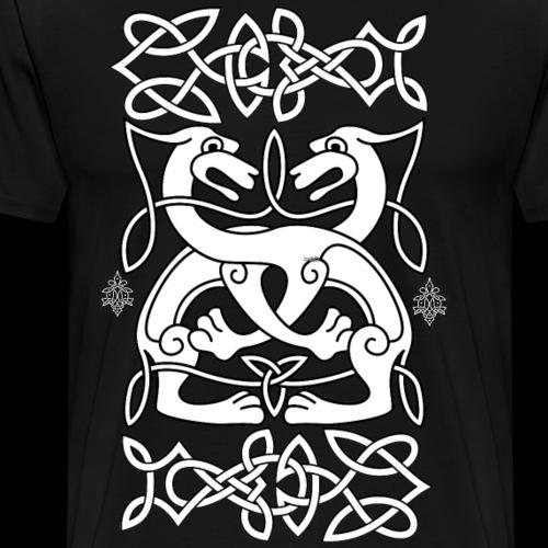 Keltische Löwen - Celtic Lions - Männer Premium T-Shirt