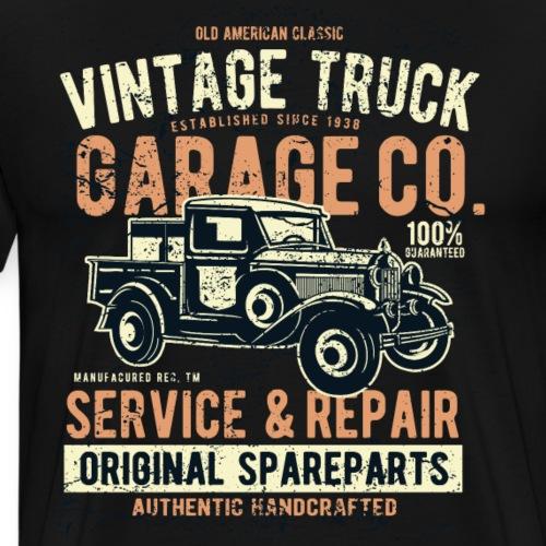 Vintage Truck Garage Co, Service & Repair - Männer Premium T-Shirt