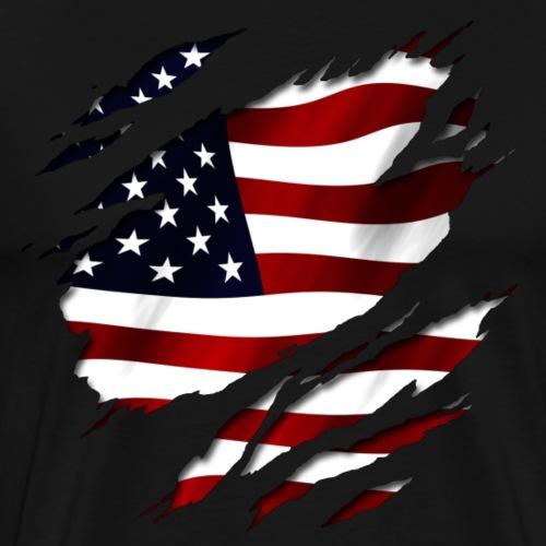 Amerika unter Deiner Haut. USA - Männer Premium T-Shirt