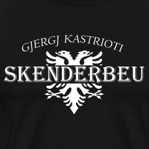 doppelkopf adler wappen skenderbeu albanisch - Männer Premium T-Shirt