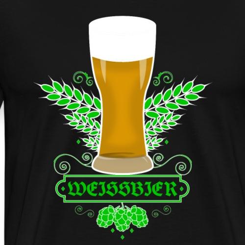 Lustiges Retro Weiss Bier Geschenk T-Shirt - Männer Premium T-Shirt