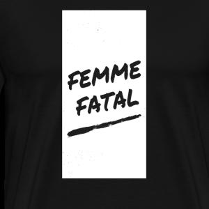 femme fatal handwriting - Men's Premium T-Shirt