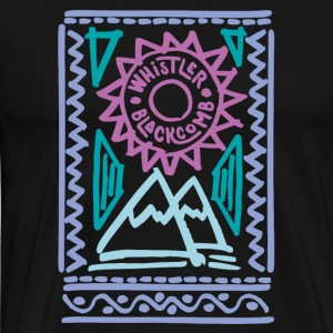 Whistler Blackcomb retro - Camiseta premium hombre