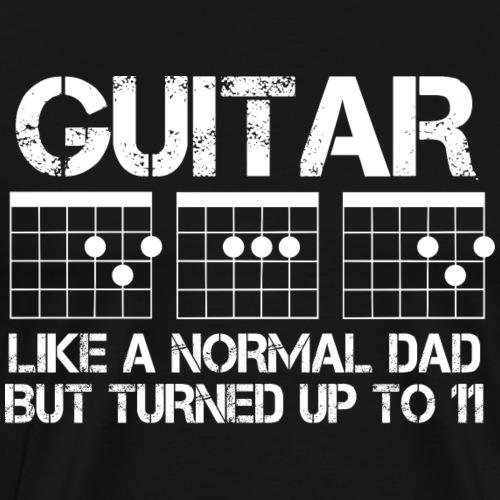 Guitar Dad 01 (White) - Men's Premium T-Shirt