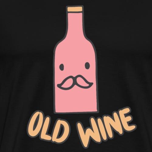 Alter Wein Geschenkidee Sketch Shirts Cartoon - Männer Premium T-Shirt