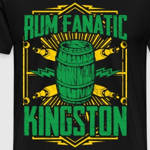 T-shirt Rum Fanatic - Kingston, Jamaica - Herre premium T-shirt