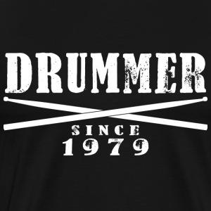 Schlagzeuger T-Shirt - Drummer since 1979 - Männer Premium T-Shirt