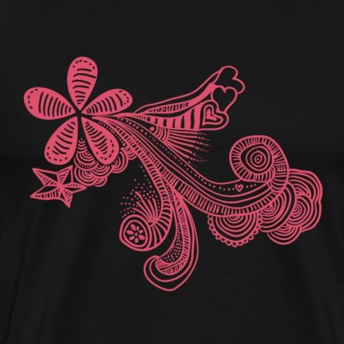 dibujo-flor - Camiseta premium hombre
