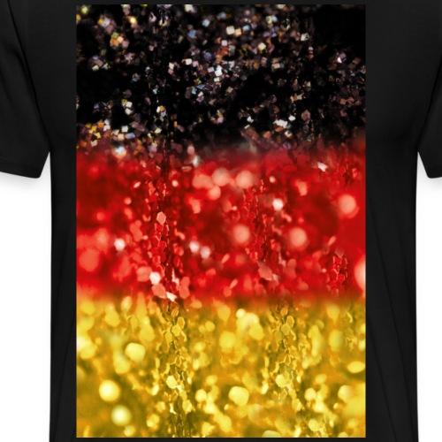 05 Deutschland Flagge Fahne Glitzer Poster Shirt - Männer Premium T-Shirt
