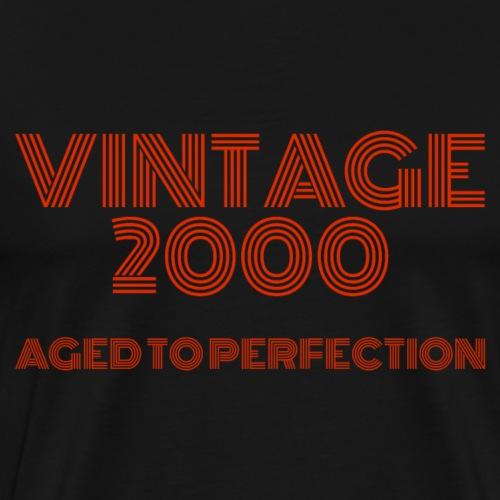 Vintage Pop Art 2000 Birthday. Aged to perfection. - Men's Premium T-Shirt