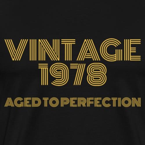 Vintage Pop Art 1978 Birthday. Aged to perfection. - Men's Premium T-Shirt