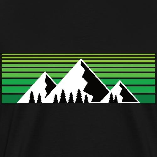 Berge im Sonnenuntergang (Bergshirt) - Männer Premium T-Shirt